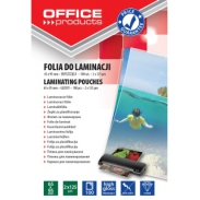 Folia do laminowania Office Products, 65x95mm, 2x125mikr, błyszcząca, 100szt, transparentna