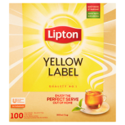 Lipton Yellow Label Herbata czarna 200 g Koperty (100 x 2 g)
