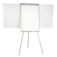 Flipchart Tripod Easel BI-OFFICE 70x102cm Magnetic Dry-wipe Board with Extending Display Arms