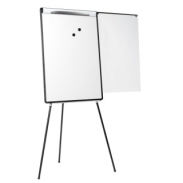 Flipchart Tripod Easel BI-OFFICE 70x102cm Magnetic Dry-wipe Board with an Extending Display Arm
